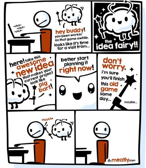 idea fairy, add, thoughts, procrastination, focus