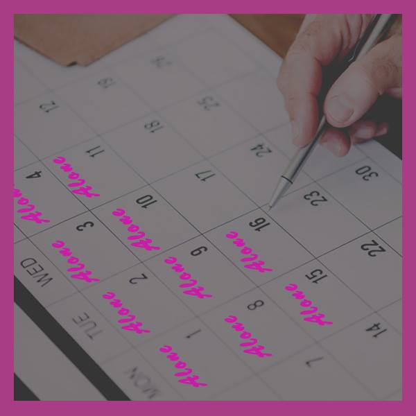 Calendar, writing dates, scheduling, time management
