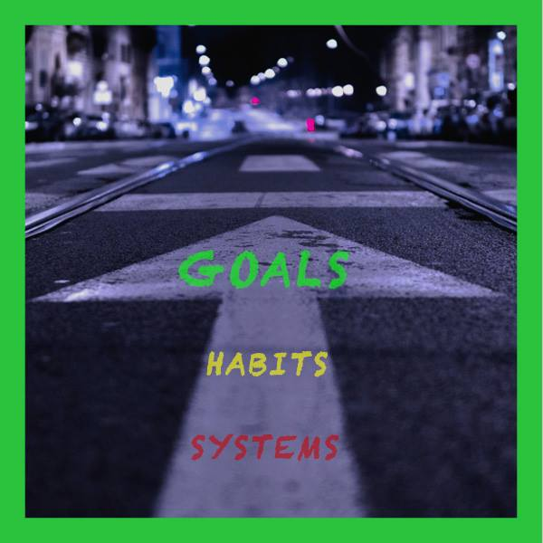 Goals, street photography, road signs, goal setting, habits, values, effort, commitment, execution