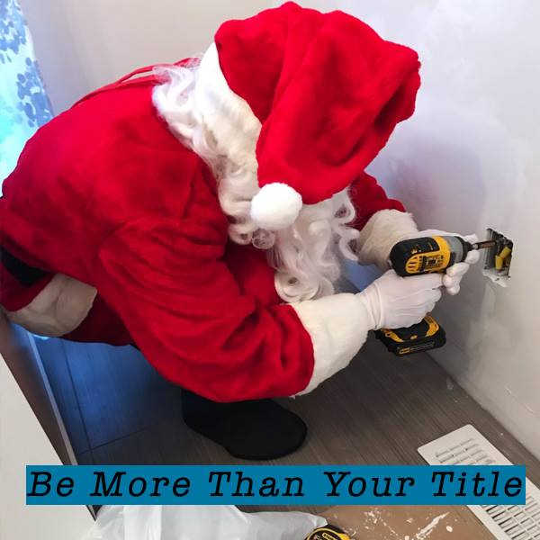 Santa Claus, drilling, working, construction, electrician