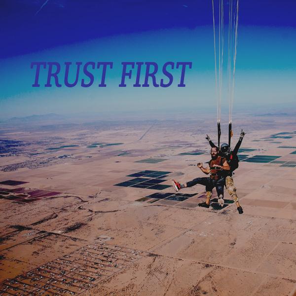 Trust, Foundation, parachute, sky diving, relationships, teamwork
