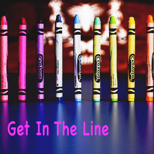 Crayon, lineup, showing up, just do it, trying, networking