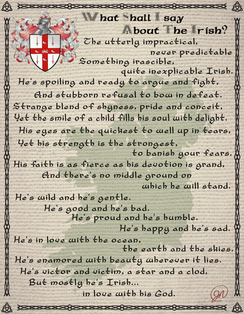 Irish, Justin Nolan, meaning, heritage, personality, pride, ireland, fighter