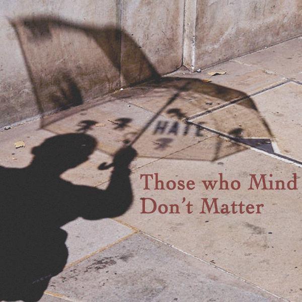 Umbrella, shadow, sidewalk, shadow person, haters, quotes
