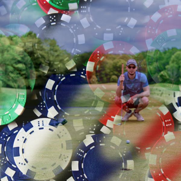 Golfer, poker game, chips, justin nolan, playing golf, patience, discipline