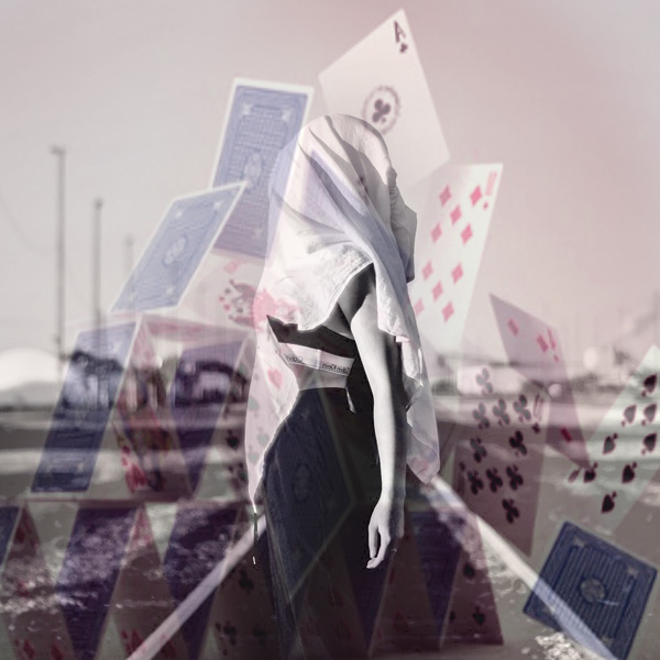 House of cards, Woman, train tracks, suicide, bullying, rules, support, common sense, cards