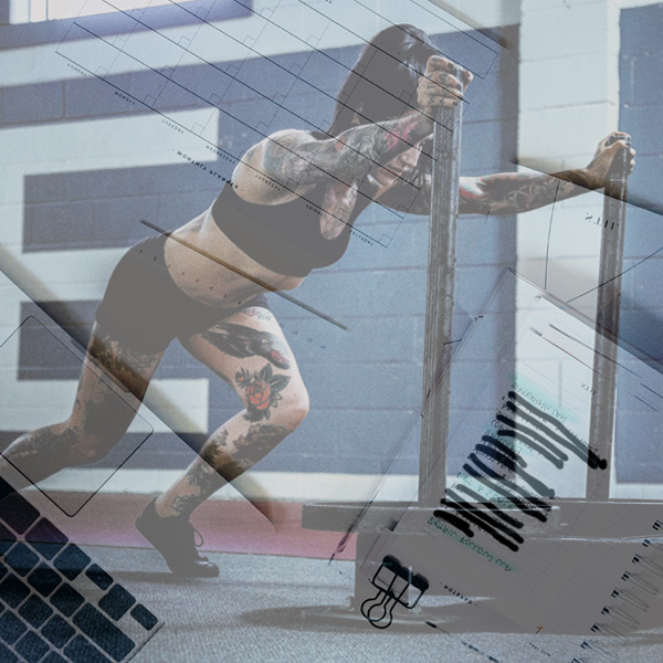 Prowler, sled, workout, girl pushing, fitness, to do list, photography