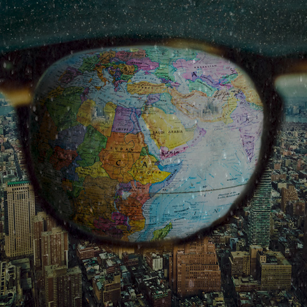 World, globe, small, interconnected, social media
