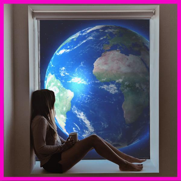 Planet Earth in Window