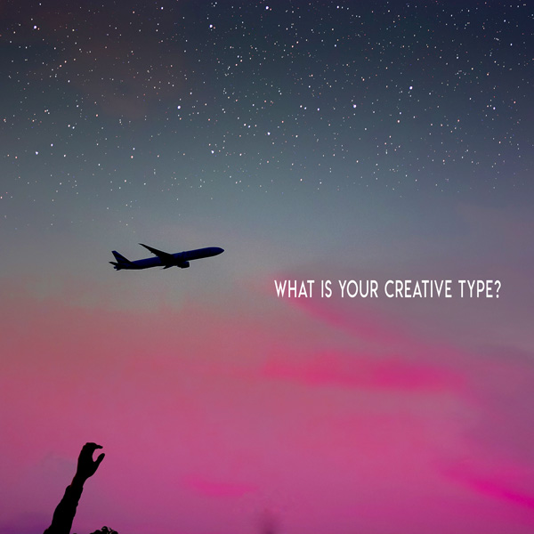 Pink sky with airplane